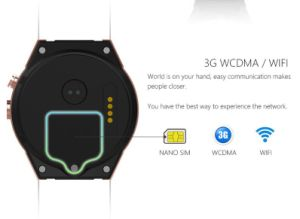 Smart Watch Kw88 Smart Phone Quad Core Pedometer GPS Gravity Sensor White Color pictures & photos