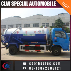 Dongfeng 6000L Vacuum Sucking Truck Vacuum Sewer Tank Vehicle pictures & photos