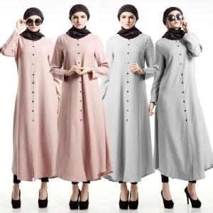 Long Sleeve Maxi Dress Muslim Islamic Clothing Abayas (A976) pictures & photos