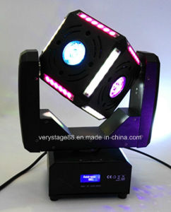 6X12W RGBW 4 in 1 of 6 Side LED Cube Ball Moving Head LED Beam Stage Light pictures & photos