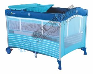 Second Layer Fashion Aluminum Simple Comfortable Baby Playpen pictures & photos