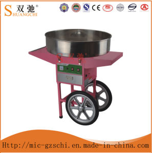 Cotton Candy Floss Machine with Cart and Plastic Bubble pictures & photos