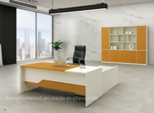 Modern MFC Laminated MDF Wooden Office Table (HF-BS1610) pictures & photos