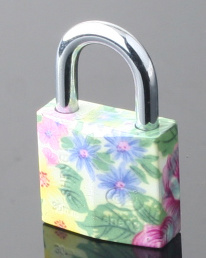 Colorful Padlock for Gift Painted Plating Padlock for Bag pictures & photos