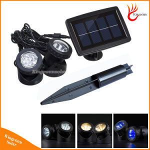 Solar Powered Lamp IP68 Solar LED Spotlight for Landscape Garden Lawn Pool Pond Outdoor Underwater Light pictures & photos