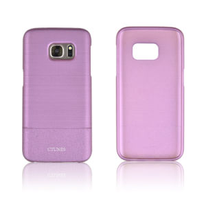 C&T Ultra-Thin Cover Case Drawbench PU Leather Grain Hard PC Case Drop Resistance Cover for Samsung Galaxy S7 pictures & photos