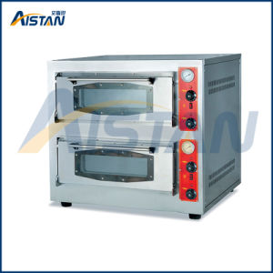 Bsr-202q Factory Price Stainless Steel 2 Deck-2 Stone Gas Pizza Deck Oven for Food Machine pictures & photos