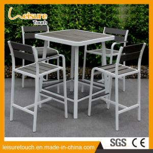 New Design Outdoor Plastic Wood Furniture Garden Coffee Chair Bar Table Set pictures & photos