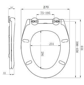 Easy Close Removable Adjustable Hinges Toilet Seat pictures & photos