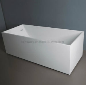 Rectangle Stone Resin Bathtub, Corian, Modified Acrylic, Polymable Stone (K1802) pictures & photos