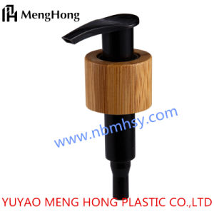 24/410 Black Color High Quality Professional Manufacture Plastic Lotion Pump with Bamboo pictures & photos
