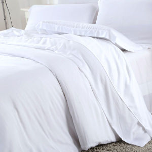 Soft White Bamboo Luxury Duvet Cover Set /Bedding Set Bedroom Set pictures & photos