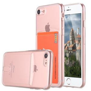 Anti-Scratch Shock Absorbing Crystal Clear Soft TPU Flexible Bumper Case with Card Slot for iPhone 7 pictures & photos