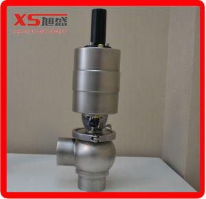 50.8mm Stainless Steel Ss304 Food Processing Pneumatic Flow Diversion Valve pictures & photos