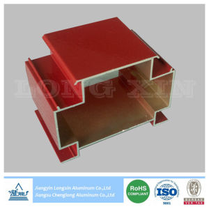 Red Powder Coated Aluminum Extrusion for Decoration pictures & photos