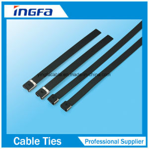 Epoxy Full Coated Metal Zip Ties Stainless Steel Cable Ties pictures & photos