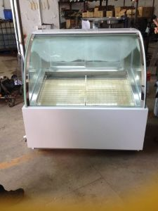 Sliding Glass Door Chest Freezer Refrigerated Ice Cream Showcase pictures & photos