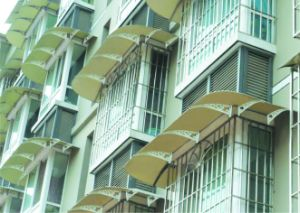 Stainless Steel Polycarbonate Sunshade for Balcony Garden Rain Protection pictures & photos