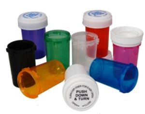 Child-Resistant Cr 420 Mmj Plastic Twist Cap Vials for Herbals pictures & photos