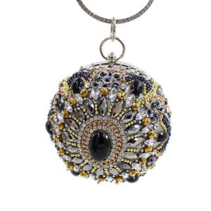 High Quality Round Style Clutch Bags Rhinestone Evening Bags Women Eb756 pictures & photos