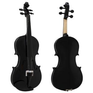 Sinomusik Cheap Black Colour Beginner Grade Practice Violin pictures & photos