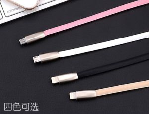 5V/1.5A Zinc Alloy TPE USB Data Cable for Samsung Phone, iPhone pictures & photos