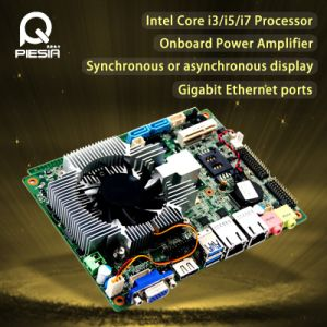 Fanless Embedded Cheap Mini PC Motherboard with Core I3/I5/I7 Processor pictures & photos