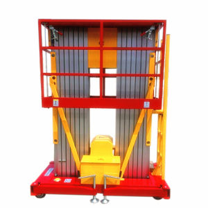 6m Mobile Double Masts Aerial Lift for Maintenance & Installation pictures & photos