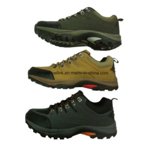 Hot Man Leather Hiking Trekking Shoes pictures & photos