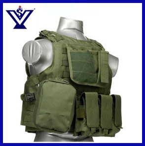 Pure Green Hunting Army Airsoft Combat Safety Vest (SYSG-201744) pictures & photos