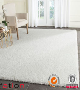 White Plain Color Shaggy Carpet Home Decoration Area Rug pictures & photos