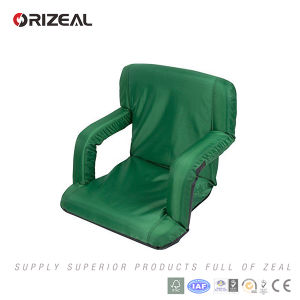 Orizeal Outdoor Portable Folding Stadium Seat with Arms and Storage Pockets pictures & photos