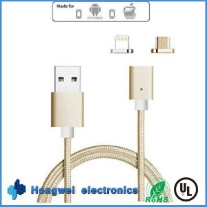 2 In1 Micro and 8 Pin Magnetic Charger USB Cable for Anfroid/iPhone ISO