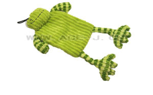 Cute Design with Squeaker Lovely Chew Pet Dog Toy Green Frog Shaped Pet Toy pictures & photos