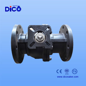 Wcb Flange Floating Ball Valve with ISO5211 Mouting Pad pictures & photos
