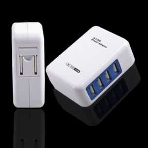 4USB Ports Charger 4A International Socket Us Plug Power Adapter pictures & photos