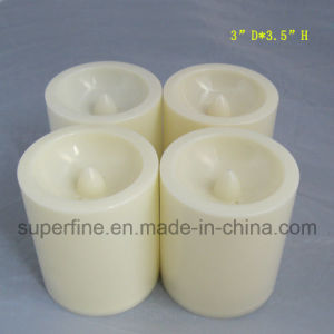 Plastic Ivory Unscented Magic Colored Christmas Lighting Set Candles Battery Operated pictures & photos