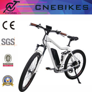 """White Color 27.5"""" Full Suspension Electric Mountain Bike pictures & photos"""