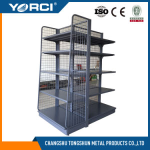 Top Quality Grocery Store Display Shelf with Wire Mesh Back pictures & photos