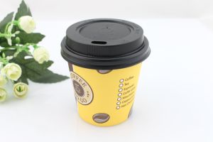 Biodegradable Single Walled Coffee to Go Paper Cup with Handle pictures & photos