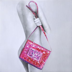 Modern Nude Woman with Handbag Canvas Prints pictures & photos