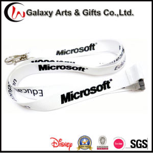 Custom Screen Printed Cheap Polyester Neck Microsoft Lanyard for Badge