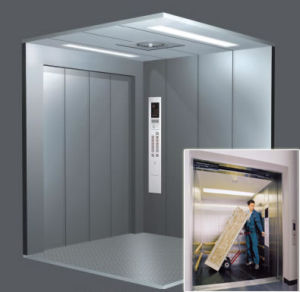 FUJI Gearless Goods Elevator Freight Elevator for Sale pictures & photos