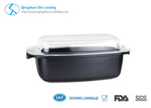 Aluminum Die-Cast Marble Purple Rectangular Fish Grill Bake Roaster Pan pictures & photos