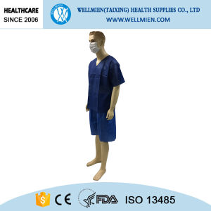 High Quality Dark Blue Medical Uniforms with SMS Material pictures & photos
