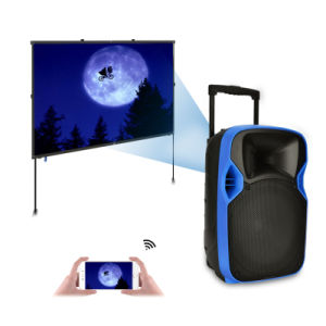 China Factory High Quality Outdoor Trolley LED Projection Speaker pictures & photos