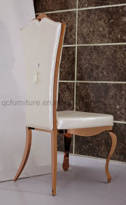 New Design Rose Golden Stainless Steel Dining Chair with Armrest pictures & photos