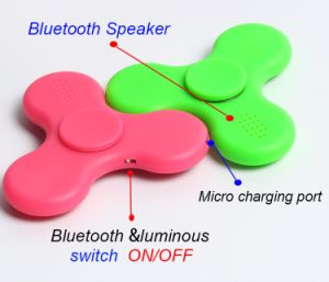 Newest Bluetooth Speaker LED Finger Spinner Toys Fidget Hand Spinner