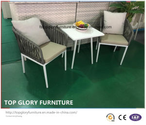 Aluminum Frame Belt Woven Chair and Tea Table Garden Outdoor Furniture (TG-6006) pictures & photos