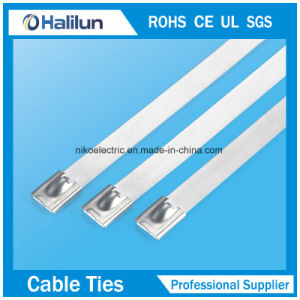 Original Color 4*650 Stainless Steel Ball Lock Cable Tie in Bundling Wires pictures & photos
